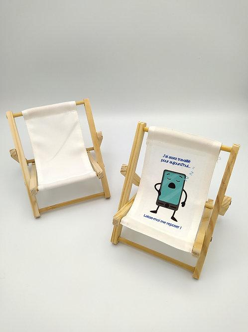 Support téléphone Chaise longue