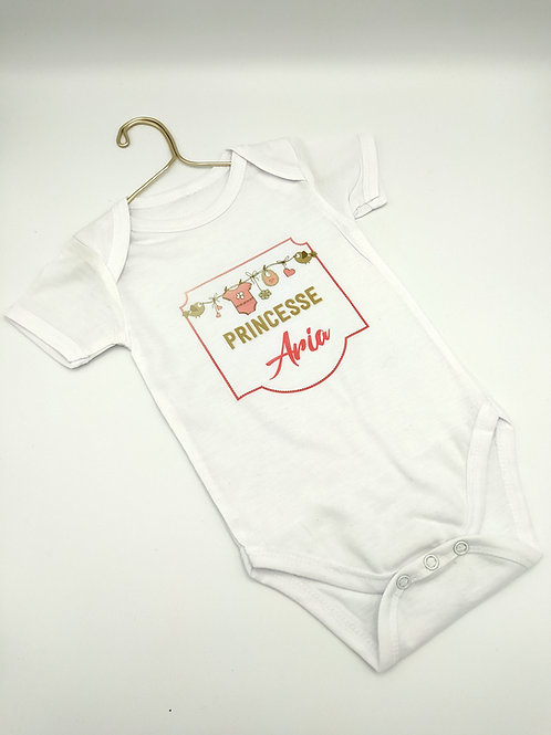 Body bébé 3-6 mois blanc