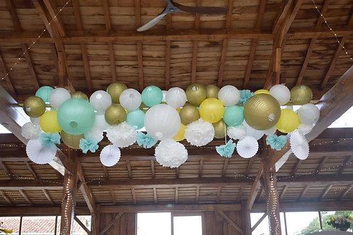 LOC032 - Boules chinoises 50cm, 35cm et 30cm divers coloris