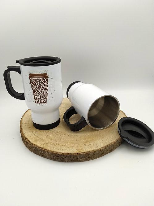 Mug isotherme blanc