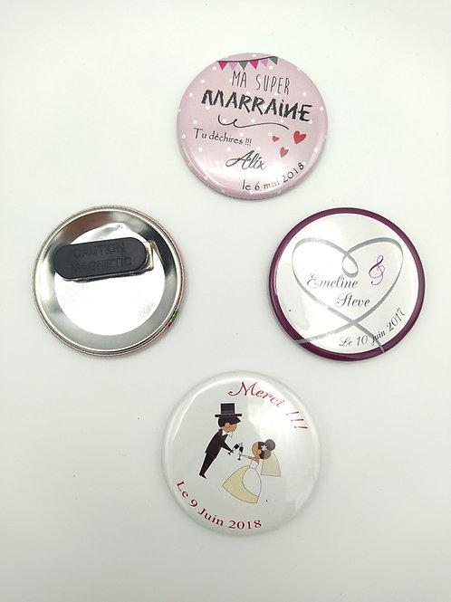 Badge magnétique vêtement