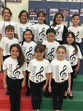 Chorus students on risers