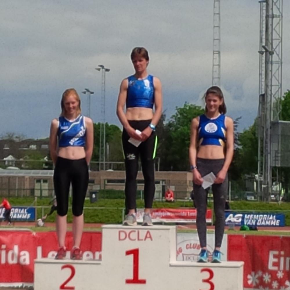 Tweede plaats op het podium maar eerste scholier!