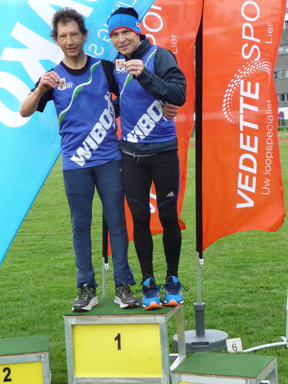 Cris Nauwelaers en Marc Borms, provinciaal kampioen 10.000m!