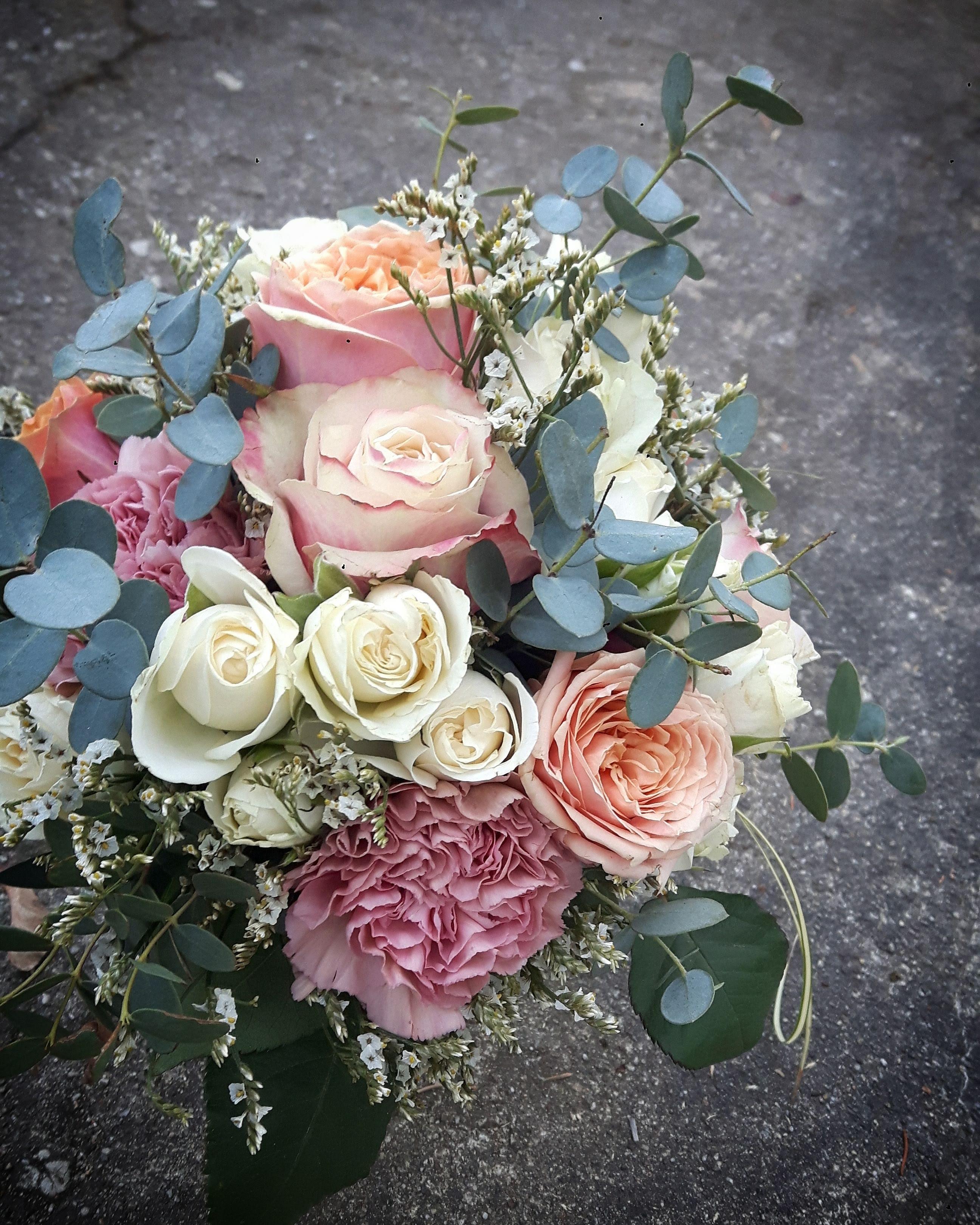 Brautstrauß pastel