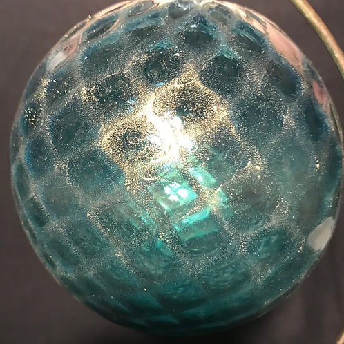 Aquamarine / Gold Balloton Ornament