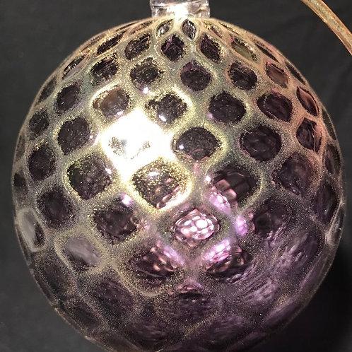 Amethyst / Gold Balloton Ornament