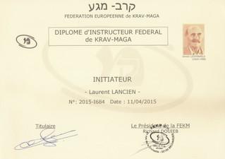 Diplome Initiateur de Krav Maga