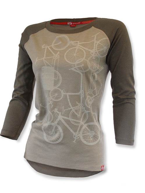 Women's Classic Forest  3/4 Sleeve Merino Shirt