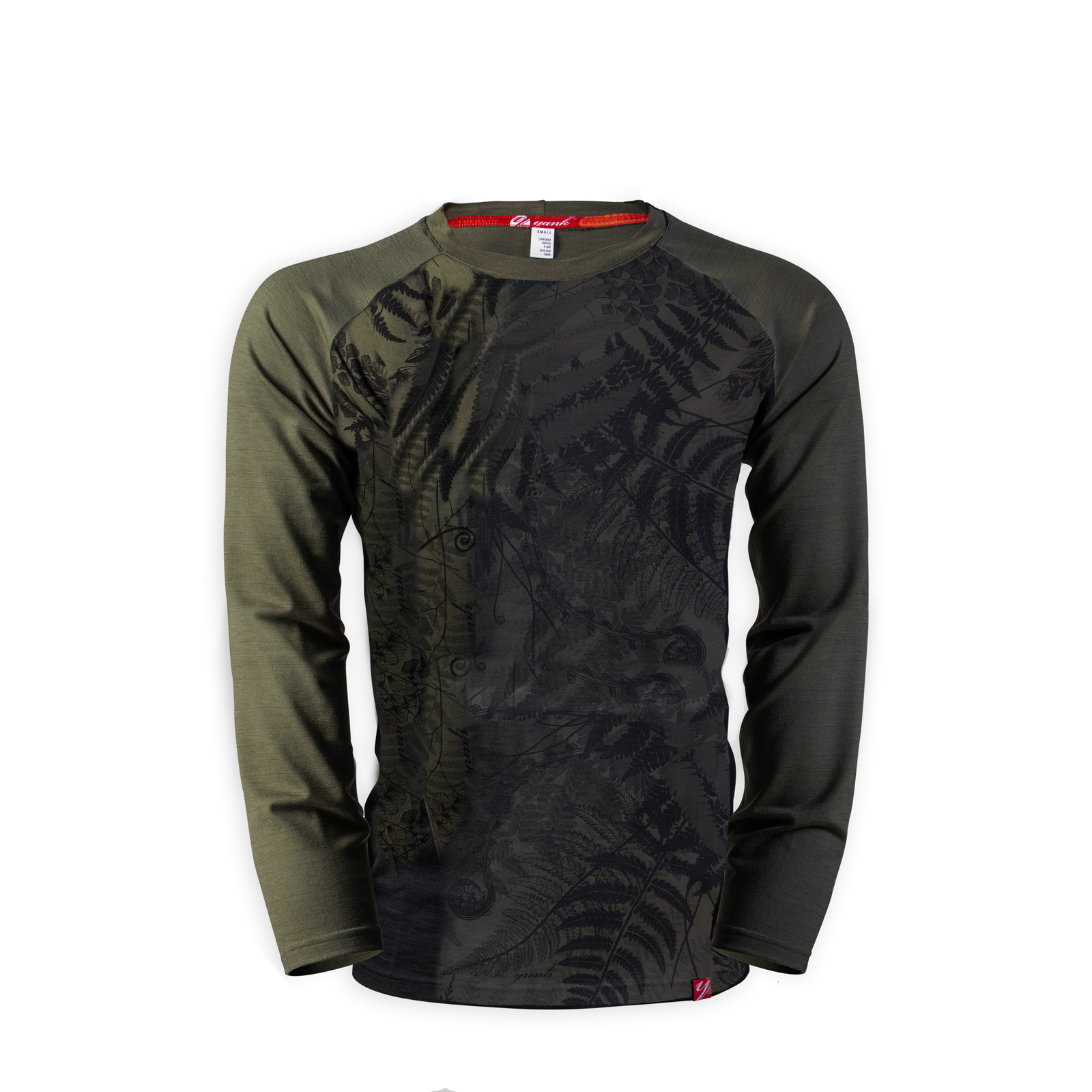 Men's Long Sleeve Merino Shirt  | Flora Mud