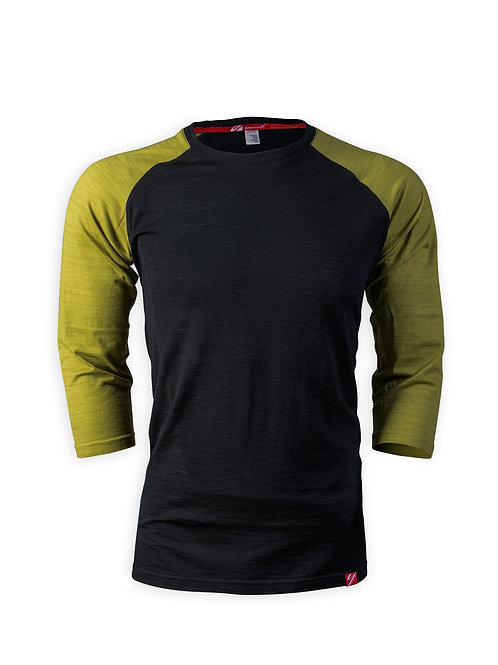 Men's Trace 3/4 Sleeve Merino Shirt    Moss