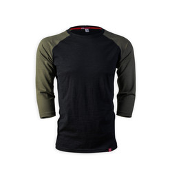 Men's 3/4 Sleeve Merino Shirt | Bubbling Mud