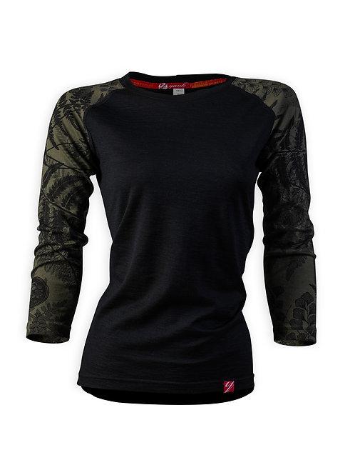 Women's Trace 3/4 Sleeve Merino Shirt | Flora Mud