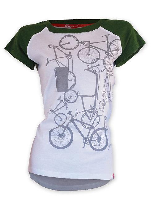 Women's Classic Green Short Sleeve Ribbed Merino Shirt