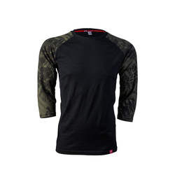 Men's 3/4 Sleeve Merino Shirt | Flora Mud