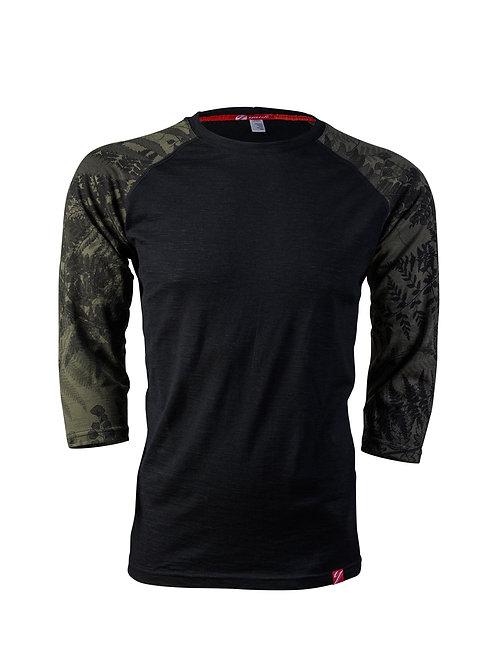 Men's 3/4 Sleeve Merino Shirt | Flora Mud