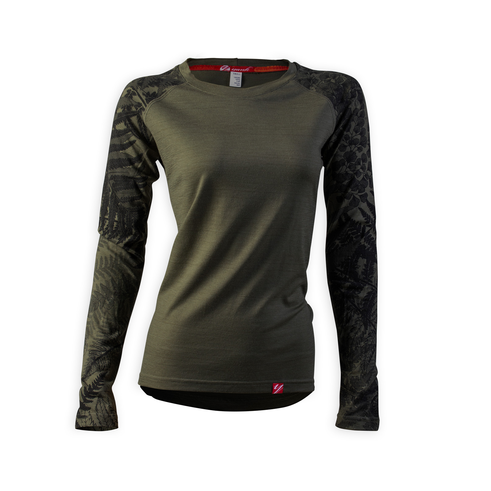 Women's Trace Long Sleeve Merino Shirt | Flora Mud
