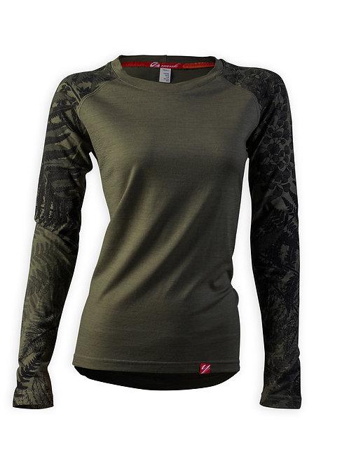 Women's Trace Long Sleeve Merino Shirt | Flora Mud