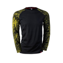 Men's Long Sleeve Merino Shirt  | Flora Moss