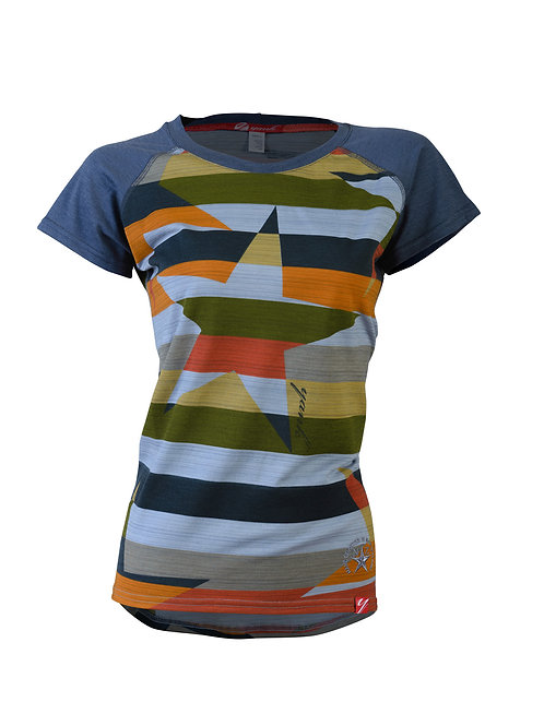 Women's Intrepid  Rock Star Short Sleeve Merino Shirt  | Stripe