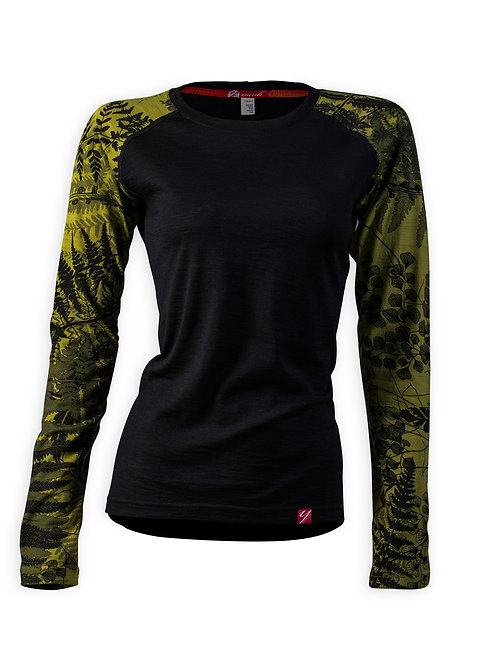 Women's Trace Long Sleeve Merino Shirt  | Flora Moss