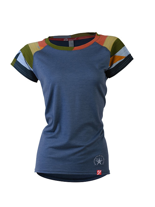 Women's Intrepid Rock Star Short Sleeve Merino Shirt  | Slate