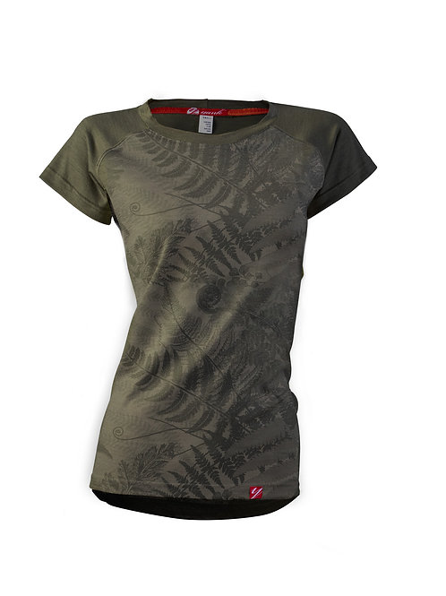 Women's Flora Short Sleeve Merino Shirt  | Bubbling Mud