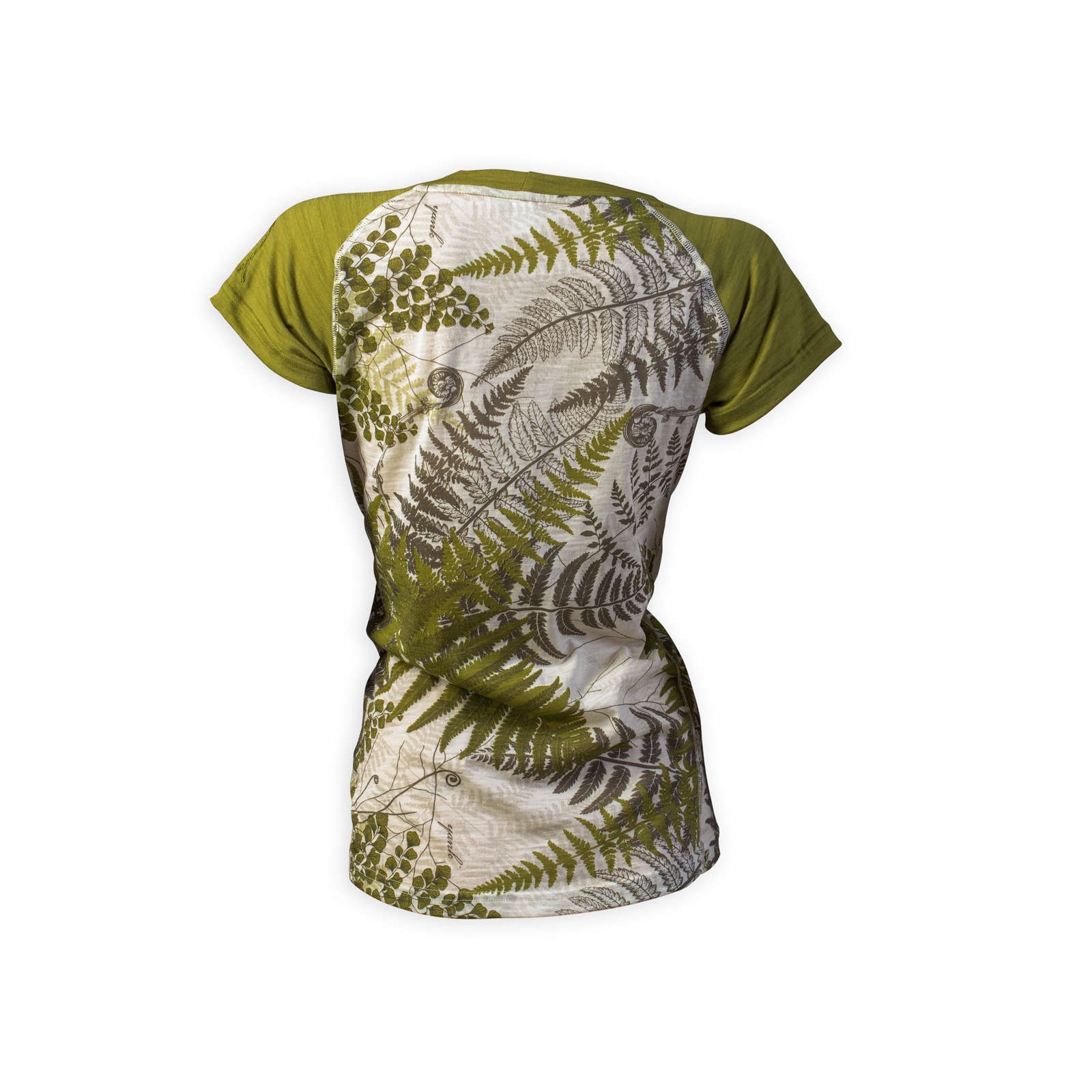 Women's Flora Short Sleeve Merino Shirt | Moss
