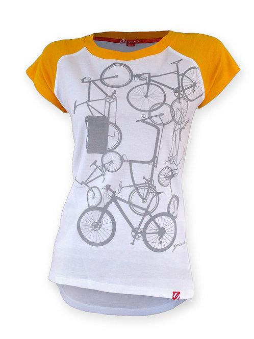 Women's Classic Yellow Short Sleeve Ribbed Merino Shirt