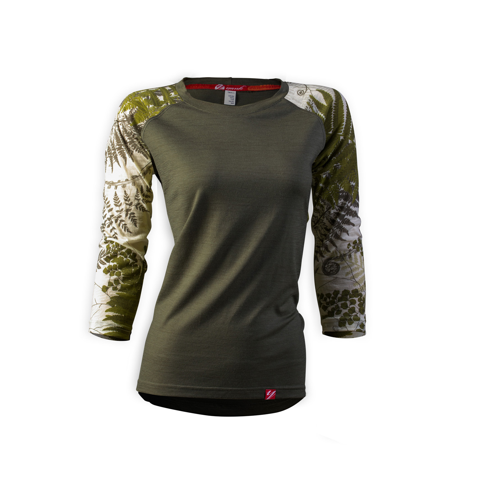 Women's Trace 3/4 Sleeve Merino Shirt  | NZ Flora Mud
