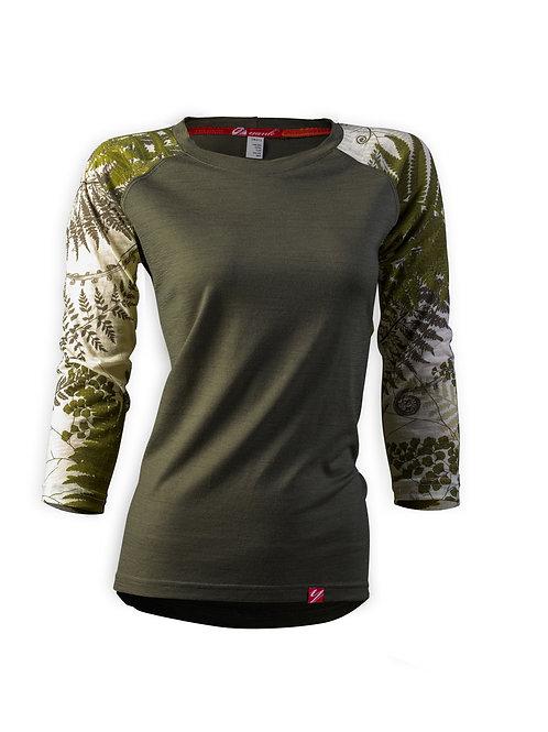Women's Trace 3/4 Sleeve Merino Shirt  | NZ Flora Mud