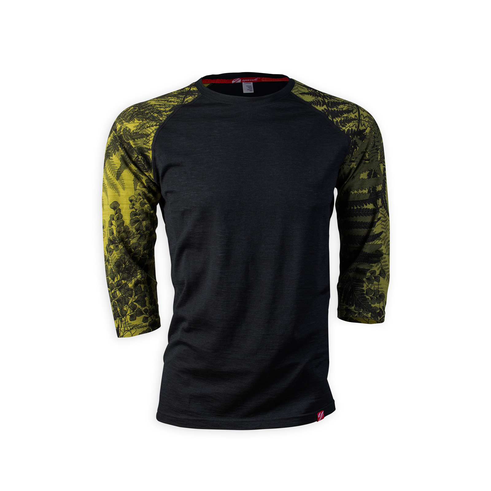 Men's 3/4 Sleeve Merino Shirt | Flora Moss