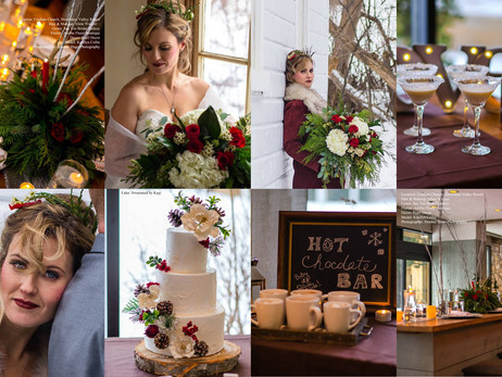 Behind the Scenes - Winter Wedding feature in Hitched Magazine.