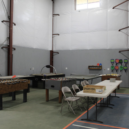 Game area inside Gymnasium