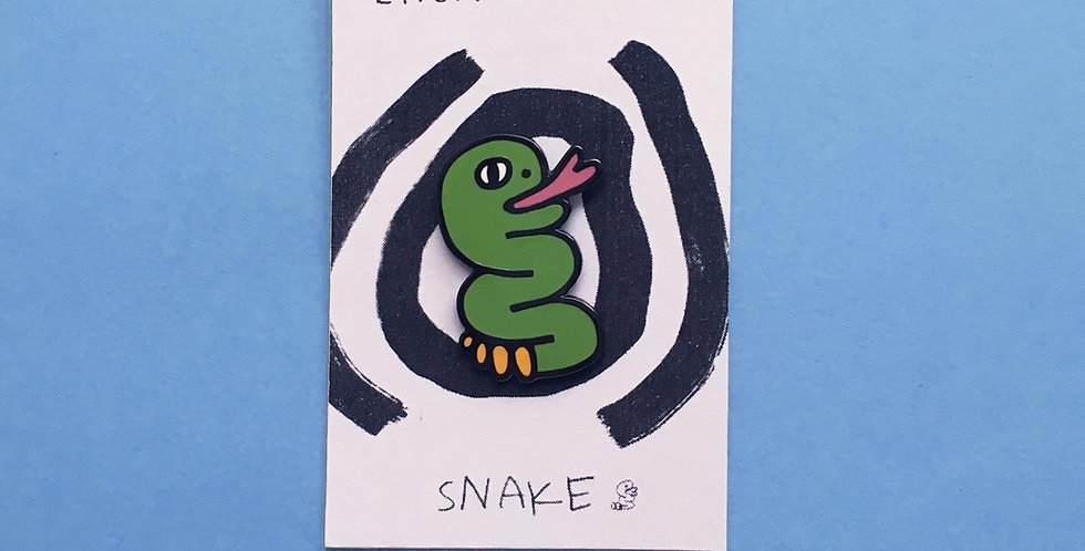 Snake Enamel Pin