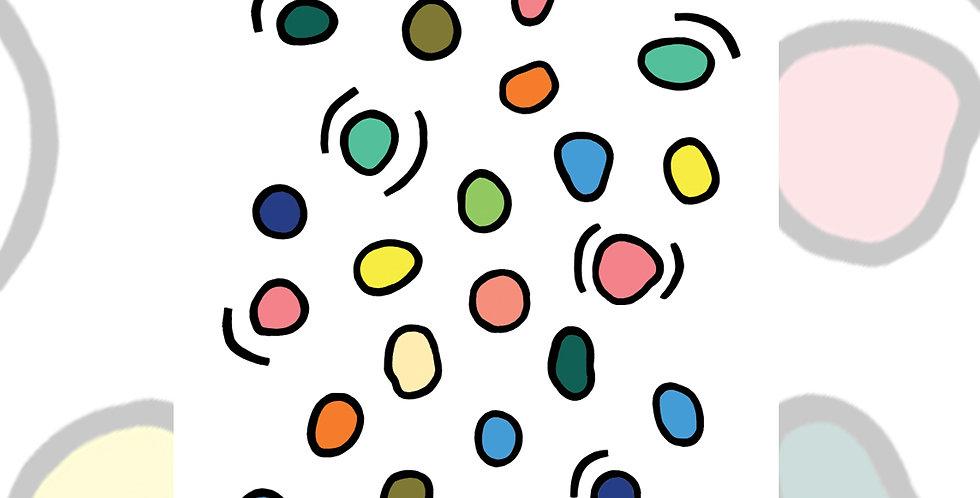 Rainbow Pebbles - ART PRINT