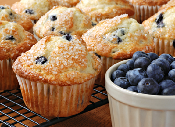 Box of 4 Blueberry Jumbo Muffins