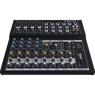 MACKIE MIX12FX, Consola Mezcladora de Audio, 12 canales