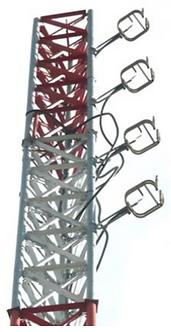 "ADVICOM SFMR-478, Arreglo 4 Radiadores FM Doble Anillo 7/8"" EIA, 3.2 dBd, 7 Kw"