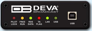 DEVA SmartGenMini, RDS/RBDS, LAN, USB, Servidor WEB, MPX, Loopthrough, 1 UR