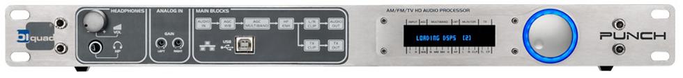 BIQUAD PUNCH-S, Procesador Audio FM, 5 Bandas, AES3, XLR, RDS/RBDS, 1UR