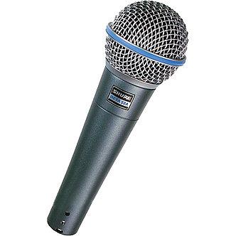 SHURE BETA58A, Micrófono Dinámico Vocal, tipo Supercardiode, 50 Hz-16 kHz, XLR-3