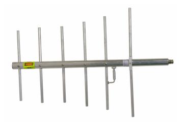 SAMCO SAM-460, Yagi, 6 Elem. 400/512 MHz, 10 dBi, 20 MHz, F/B: +20 db, N, 300W