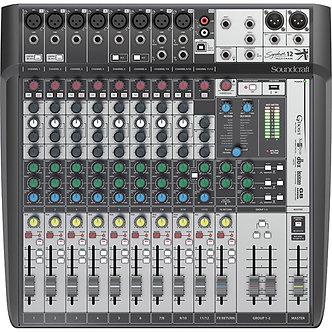 SOUNDCRAFT Signature 12, Consola Mezcladora Audio, 12CH, 8Mic, Faders 60mm, USB