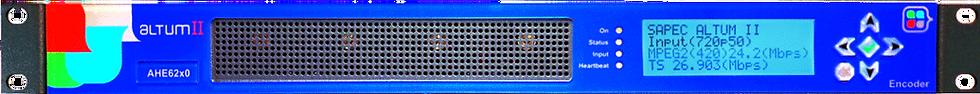 SAPEC Altum II, Encoder Video/Audio,H.264/MPEG-2, ASI/TSoIP, HD/SD-SDI, 1UR,AES