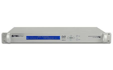 TECSYSTS7100-LCD, Receptor Satelital Audio, DVB-S/S2 MPEG-2, RS-232, LCD, 1UR