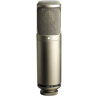 RODE K2, Micrófono Condensador Cardiode, 20Hz-20kHz, 200 Ohms, 162dB, XLR