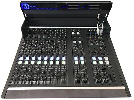 DM BROADCAST DM M16, Consola 12 Faders, 16 Frame, 2 Híbridos Telefónicos, XLR