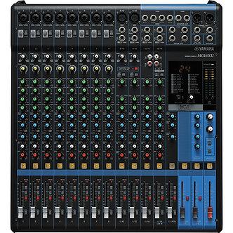 YAMAHA MG16XU, Consola Mezcladora Audio, 16CH, 10 IN MIC, 24 presets, 4 AUX, USB