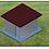 Thumbnail: ADVICOM CASCT1, Caseta de Cemento, 3x2.70x2.5 m, 4 columnas,  Protecc. Elect.